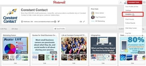 How to Become a Hit on Pinterest, Using Pinterest Analytics | Constant Contact Blogs | Pinterest | Scoop.it