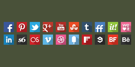 20 Free Flat Shadow Style Original Colour Icons | S-Icons - Social Networks Icons | Art Collection | Scoop.it