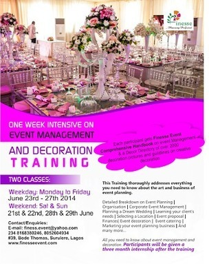 Finese Event Services presents: Event Management and Decoration training | BLISSFUL EVENTS | Scoop.it