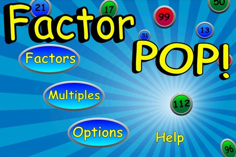 Factor POP!! - iPhone Apps, iPad Apps, iOS Apps | Math, Technology and UDL:  Closing the Achievement Gap | Scoop.it