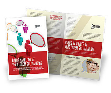 Communication Area Brochure Template | Brochure Templates | Scoop.it