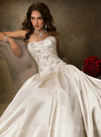 Only Price - $300.00 wedding dresses - Style Maggie Sottero Zander Satin Ball Gown For sale | Maggie-Sottero 2013 | Scoop.it