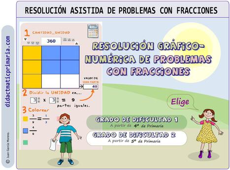 didactmaticprimaria: RESOLUCIÓN ASISTIDA DE PROBLEMAS CON FRACCIONES. | DidácTICa_MatemáTICas. Revista Digital | Scoop.it
