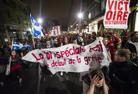 Québec: une loi d'exception pour casser le «printemps érable» - Rue89   L'enseignement dans tous ses états.   Scoop.it