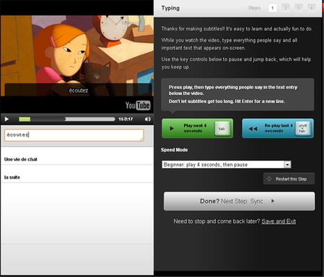 Sous-titrez vos vidéos pour l'apprentissage des langues | TICE, Web 2.0, logiciels libres | Scoop.it