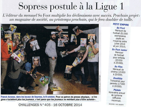 Sopress postule à la Ligue 1 | DocPresseESJ | Scoop.it