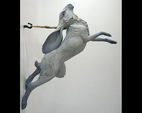 "Beth Cavener Stichter: Study for ""Hare Leaping Over Nothing"" 