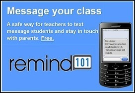 - Remind 101 provides simple & free texting tool to enrich teaching and learning | pre-service teacher ideas | Scoop.it