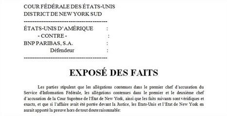 » Comprendre l'affaire BNP : Traduction exclusive de l'exposé des faits   Actualités   Scoop.it