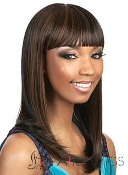 Lastest Trend Medium Straight Brown Full Bang African American Wigs for Women 16 Inch : fairywigs.com | African American Wigs | Scoop.it