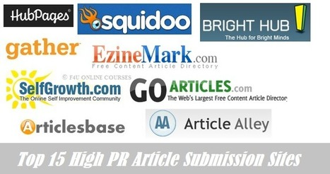 Top 15 High PR Article Submission Sites | F4U ONLINE COURSES | Scoop.it