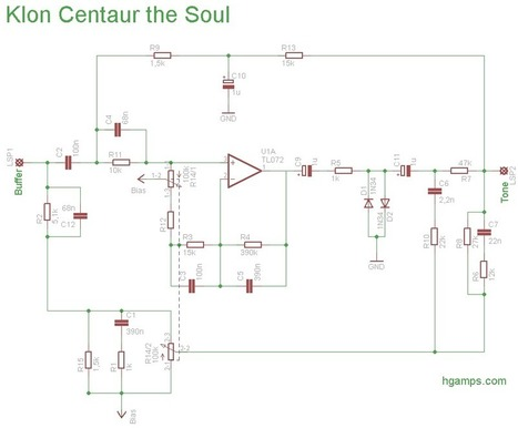 Klon Centaur analysis - H&G Amplifiers   DIY Music & electronics   Scoop.it