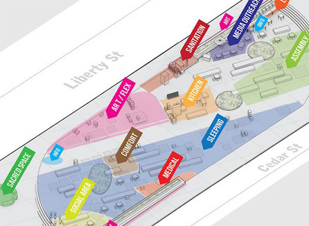 Mapping Occupy Wall Street: Zuccotti Park to Liberty Plaza: Places: Design Observer | The Nomad | Scoop.it