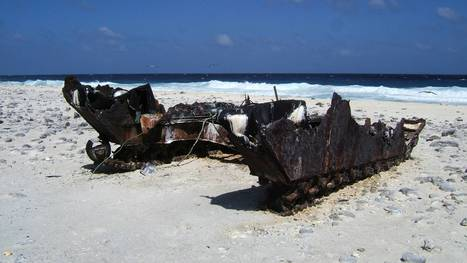 Hull of an Amtrac, an armoured amphibious transport, (probably an LVT-4) rust... | Rebrn.com | Modern Ruins | Scoop.it