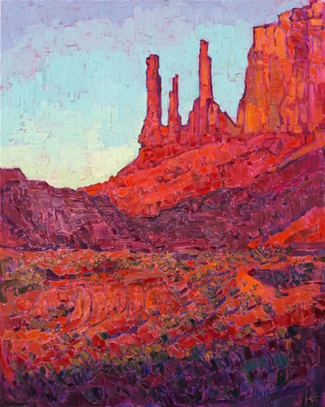 Vibrant Landscape Paintings Use the Color Orange to Capture the Warm Glow of the American West | Le It e Amo ✪ | Scoop.it