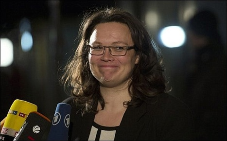 L'essentiel Online - Les ministres SPD seront pour moitié des femmes - Europe | Intervalles | Scoop.it