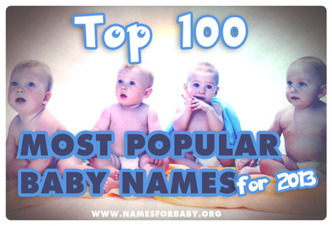 Top 100 Most Popular Names 2013 - Noah is new number 1 | The Name Meaning & Baby World | Scoop.it