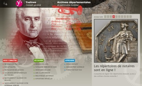GénéInfos: Etat civil, notaires, matricules : un vent de neuf sur le portail des Yvelines ! | Nos Racines | Scoop.it