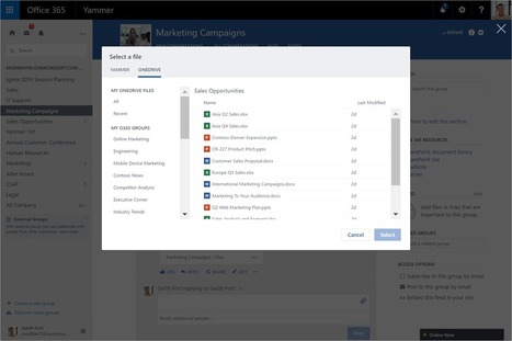 Yammer strengthens team collaboration through integration with Office 365 Groups - Office Blogs   Sharepoint 2013 FR - OFFICE 365 - YAMMER   Scoop.it