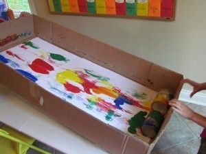 I can day: tin can partner painting | Teach Preschool | Scoop.it