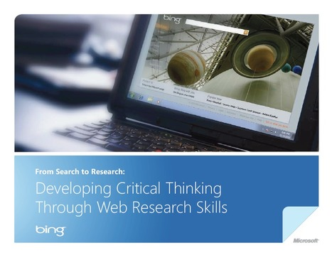Critical Thinking Teaching Guide - Microsoft   Educational Research & Publishing   Scoop.it