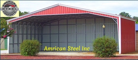Carport | American Steel Inc | Install Metal garage for your favorite car | Scoop.it