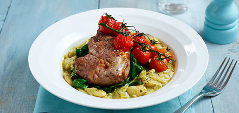 5 steps to Lamb steaks with pesto butterbeans. | GourmetGeorge | Scoop.it