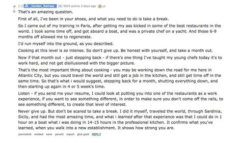 Demotivated Chef Asks Gordon Ramsay for Advice and Gets Great Response   MILLESIMES 62 : blog de Sandrine et Stéphane SAVORGNAN   Scoop.it