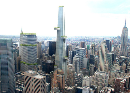 3rd Grand Central Terminal proposal includes a 'podium park' and skyscraper | green streets | Scoop.it
