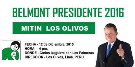 Lanzamiento de Ricardo Belmont a la Presidencia | Cooperativismo PERÚ | Scoop.it