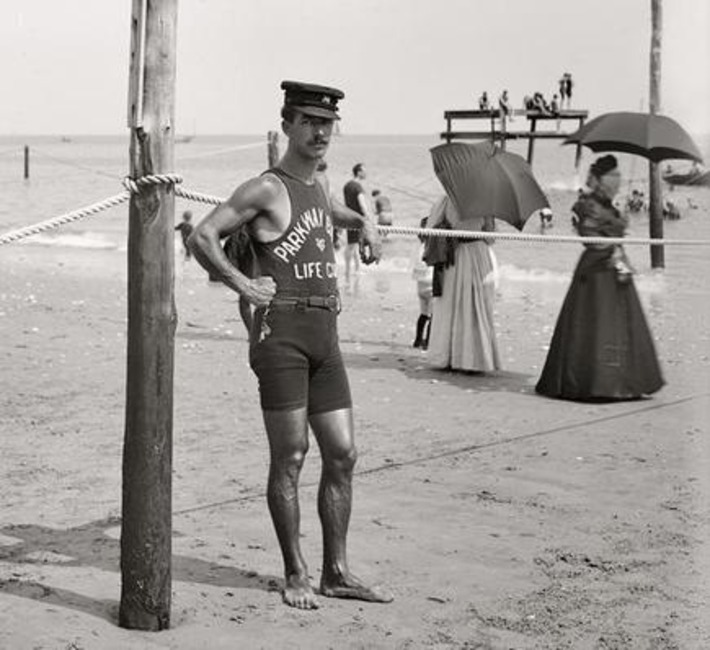 Hunky Lifeguard, 1905 | Sex History | Scoop.it