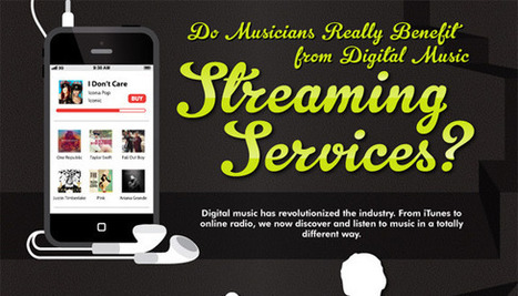 Do Musicians Really Benefit From Streaming Services? #INFOGRAPHIC | Streaming | Scoop.it