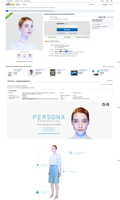 Channel 4 excites Twitter with Persona Synthetics ads #transmedia | 3D animation transmedia | Scoop.it