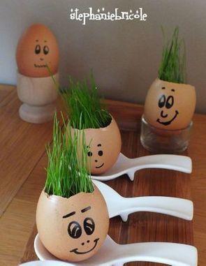Idée pour Pâques (avec les enfants ou pas !) : un œuf « herbe » ou un oeuf | Chouettes tutos | Scoop.it