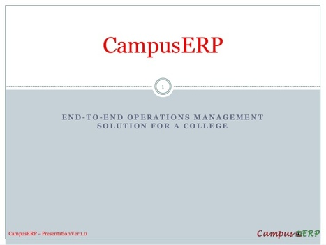 College ERP software, Campus ERP, CampusERP Software for Sales. | Saral Technomart Pvt Ltd | Scoop.it