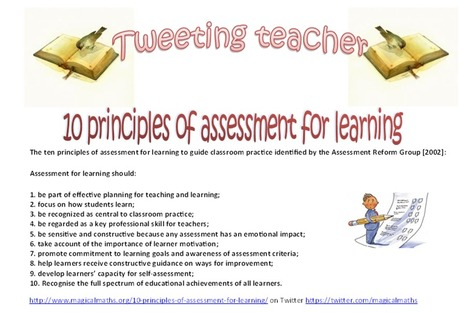 Do you know the 10 Principles of Assessment For Learning? | Assessment strategies for teaching and learning | Scoop.it