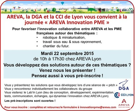 "22.09.15 | Journée ""AREVA Innovation PME"" à Lyon 