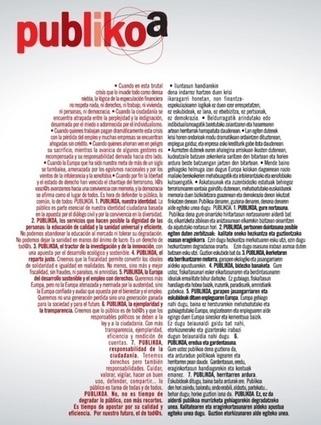 Manifiesto publikoa | Recortes en Sanidad | Scoop.it
