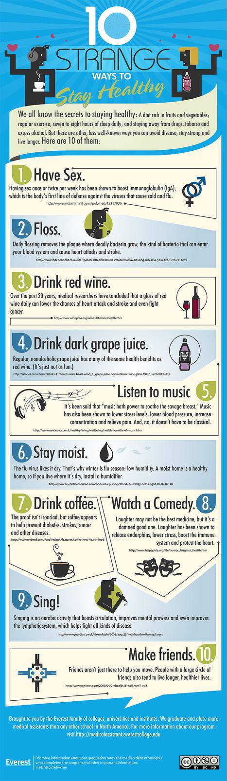10 extrañas recomendaciones para mantenerse saludable | deportes | Scoop.it