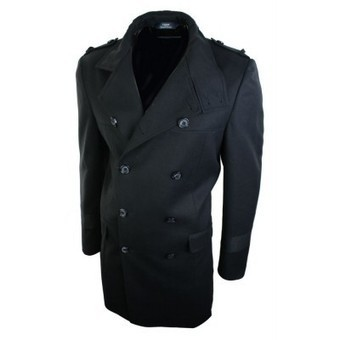 Mens Double Breasted Winter Blazer Overcoat Black 3/4 Jacket Crombie Herringbone Long | Mens clothing | Scoop.it