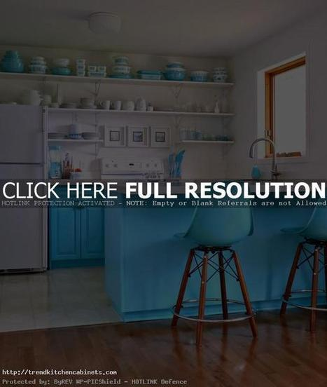 Turquoise Kitchen Cabinets and How to Make Perfect Interior | Home Designs an Decorating Ideas | Scoop.it