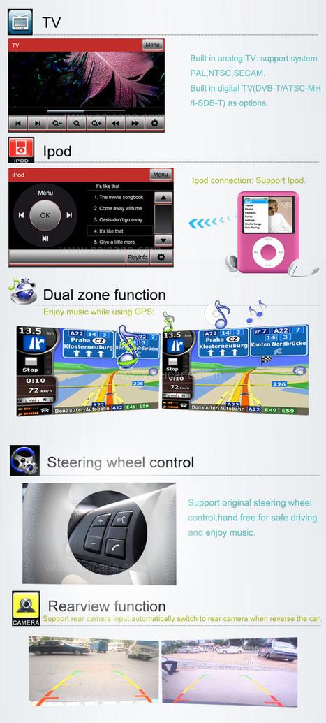 In dash Mitsubishi Outlander DVD player GPS Navigation System Radio TV Bluetooth IPOD | car dvd gps | Scoop.it