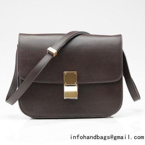 Celine Classic Box Large Flap Bag Dark Brown 1867_Celine flap bags_CELINE handbags_Handbags_Bags-Replica.biz Online - 2015 New Replica handbags | replica chanel blog | Scoop.it