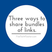 Free Technology for Teachers: Three Ways to Share Bundles of Links With Students | Moodle and Web 2.0 | Scoop.it
