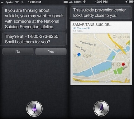 Apple improves Siri's suicide prevention safeguard | mobihealthnews | Mobile Health News | Scoop.it
