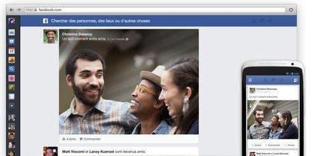 Facebook change de look et de fil d'actualité: découvrez ce qui change pour vous   Social   Scoop.it