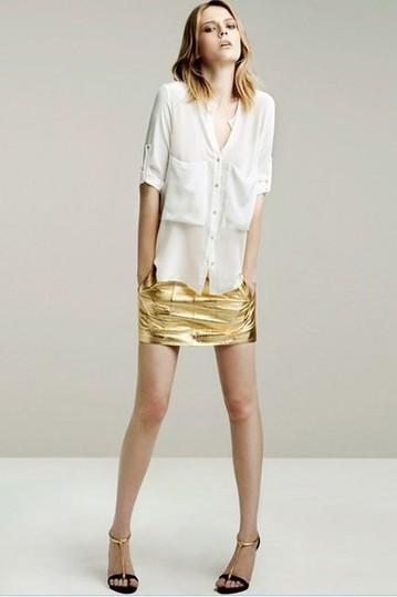 Semi Sheer Medium Sleeve Loose Blouse - OASAP.com | Online Fashion | Scoop.it