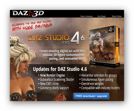 Free DAZ Studio 4.6 Pro | Machinimania | Scoop.it