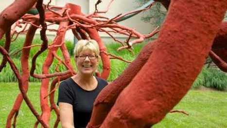 In grand gesture, Bucks sculptor's towering work takes root at Doylestown museum - Newsworks.org   Metal Art   Scoop.it