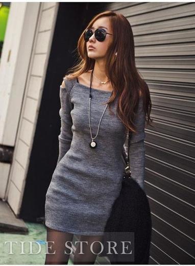 Chic Slim Long Sleeve Dress   2014 spring  women's fashion   Scoop.it
